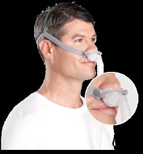 หน้ากากแบบสอดรูจมูก (Nasal Pillow Mask)